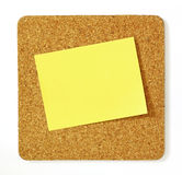Post-it on cork board. For edit Royalty Free Stock Photography