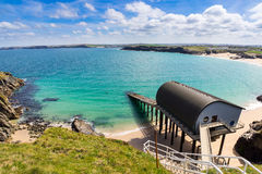 Post Cornwall van de Trevose de Hoofdreddingsboot Stock Foto