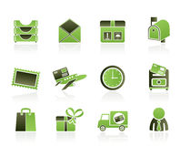 Post, correspondence and Office Icons Stock Photography
