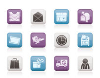 Post, correspondence and Office Icons Royalty Free Stock Photos