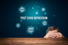 Free Post-Covid Depression And Mental Health Concept Stock Photos - 214655503