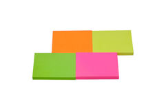 Post-it de couleur sur le fond blanc Image libre de droits