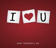 Post-it de la tarjeta del día de San Valentín Imagenes de archivo