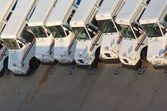 Post de postvrachtwagens van de V.S. stock fotografie