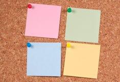 Post-it del color imagen de archivo libre de regalías