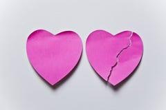 Post-it del cuore Fotografia Stock Libera da Diritti