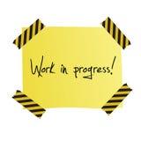 Post-it del trabajo en curso Fotografía de archivo libre de regalías