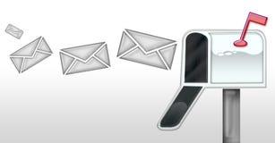 Post in der Mailbox Lizenzfreies Stockfoto