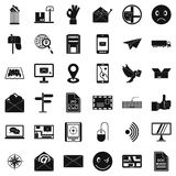 Post dispatch icons set, simple style. Post dispatch icons set. Simple set of 36 post dispatch vector icons for web isolated on white background royalty free illustration
