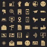 Post dispatch icons set, simple style. Post dispatch icons set. Simple set of 36 post dispatch vector icons for web for any design vector illustration