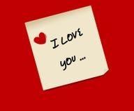 Post-it do amor Imagem de Stock Royalty Free