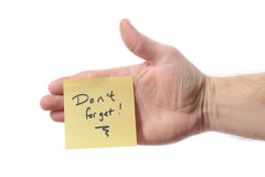 Post it dont forget Royalty Free Stock Photo