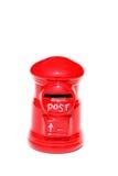 Post doos die op een wit wordt geïsoleerd Royalty-vrije Stock Foto