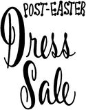 Post Easter Dress Sale Stock Images