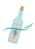 Post in een fles Royalty-vrije Stock Foto's