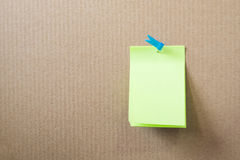 Post-it em branco Fotografia de Stock Royalty Free