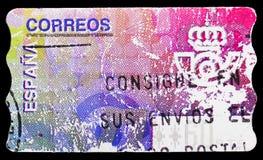 Post- emblem 3, termisk jubileums- serie, circa 1995 royaltyfri bild