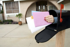 Post en brievenbus Royalty-vrije Stock Foto