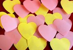 Post-it en forma de corazón Fotografía de archivo libre de regalías