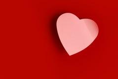 Post-it en forme de coeur Image libre de droits