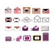 Post/envelop/brievenpictogrammen Royalty-vrije Stock Afbeelding