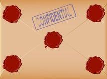 Post envelope. Hi detailed post envelope with inscription CONFIDENTIAL stock illustration