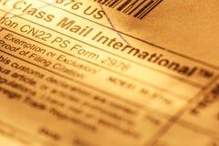 Post envelope label Stock Photos