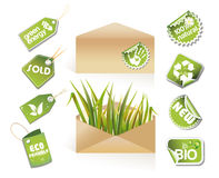 Post envelopes - eco idea Royalty Free Stock Photography