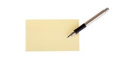 Post-it et crayon lecteur Photo stock
