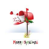 Post för glad jul royaltyfri illustrationer