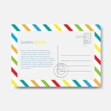 post för kuvert för aviabegrepp e Royaltyfria Bilder