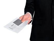 Post för leverans för affärsman Arkivfoton