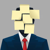 Post it face Royalty Free Stock Photo