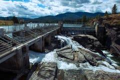 Post Falls Dam Stock Photo