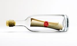 Post in fles Royalty-vrije Stock Afbeeldingen