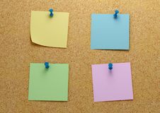 Post it four Stock Photography