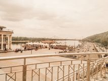 Post- fyrkant | Flodport | Kyiv Ukraina royaltyfri bild