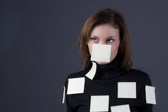 Post-it girl Stock Photos