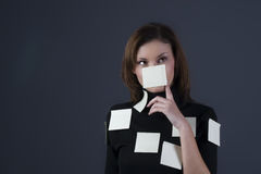 Post-it girl Stock Images