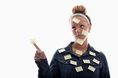 Post it girl Stock Photo