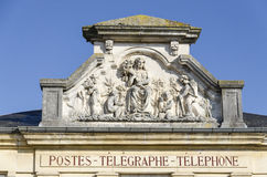 Post of Givry, burgundy, France Stock Photography
