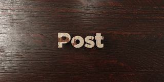 Post - grungy wooden headline on Maple - 3D rendered royalty free stock image stock photography