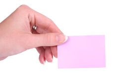 Post-It and hand royalty free stock photo