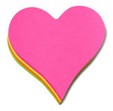 Post it heart Stock Photo