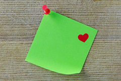 Post It with Heart Stock Photo