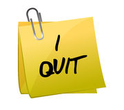 Post-it I quit illustration design Stock Photography