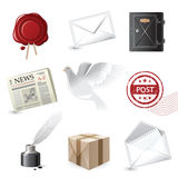 Post icons. Highly detailed post icons set Royalty Free Stock Photography