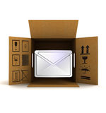 Post information message in package delivery Royalty Free Stock Photography