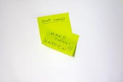 Post-it inspirador Foto de Stock