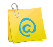 Post and internet symbol illustration Royalty Free Stock Photography